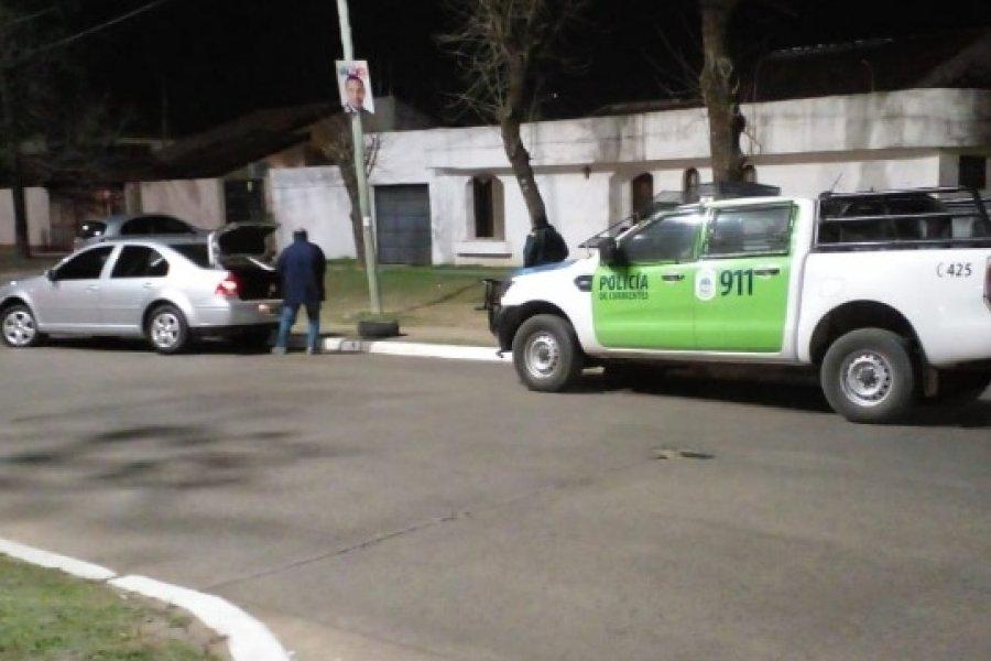 Persecución y detención: Policías recuperaron un auto robado en Corrientes