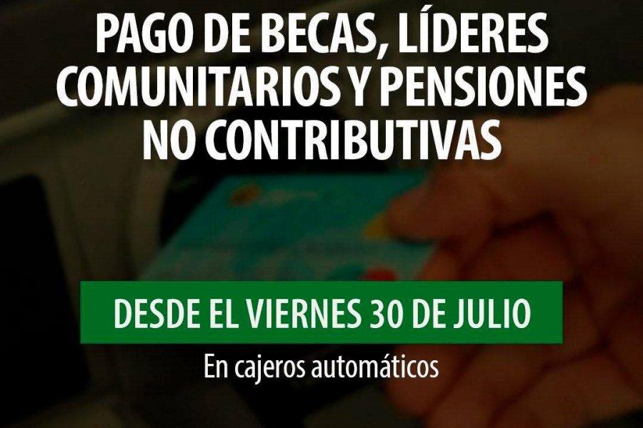 Inicia el pago de becas, pensiones no contributivas y líderes comunitarios