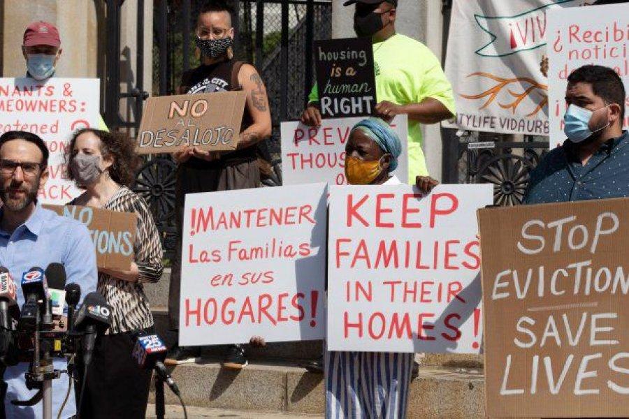 EEUU: mas de 3,6 millones de personas en riesgo de desalojo por el fin de una moratoria