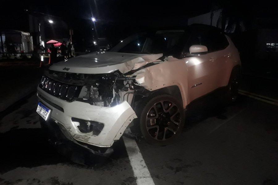 Impactante accidente entre dos vehículos en Esquina