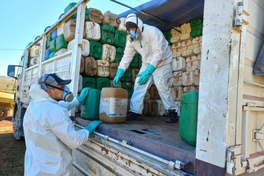 En Virasoro se recibieron casi 3.000 envases vacíos de fitosanitarios y se acercan a 30.0000 en lo que va del año