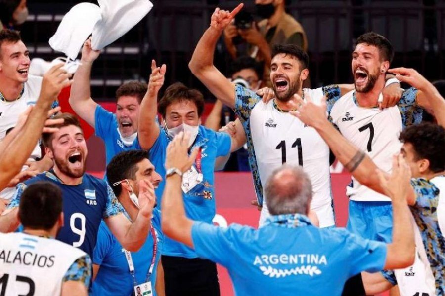 Argentina y un bronce histórico: El seleccionado de vóley derrotó a Brasil
