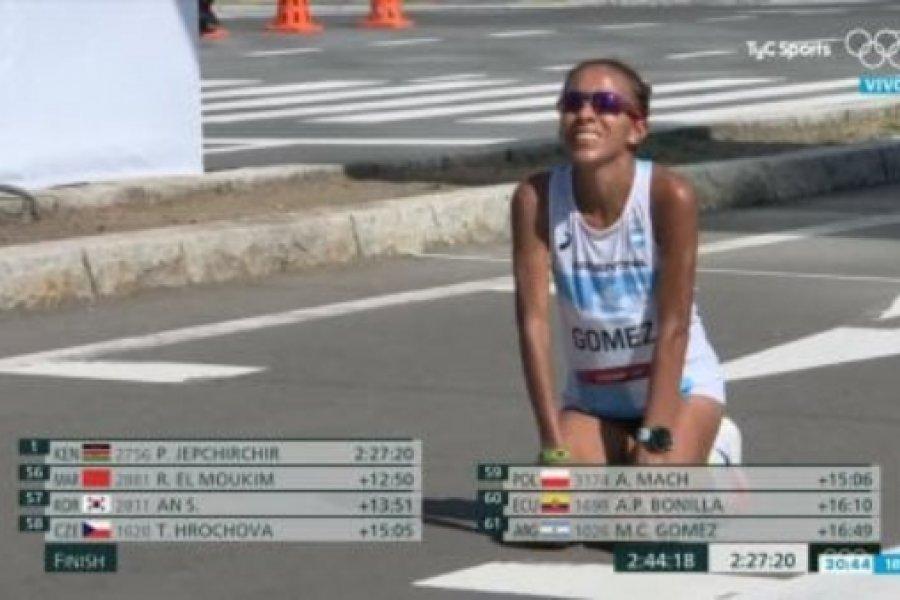 La chaqueña Marcela Gómez finalizó la maratón de 42 kilómetros en Tokio