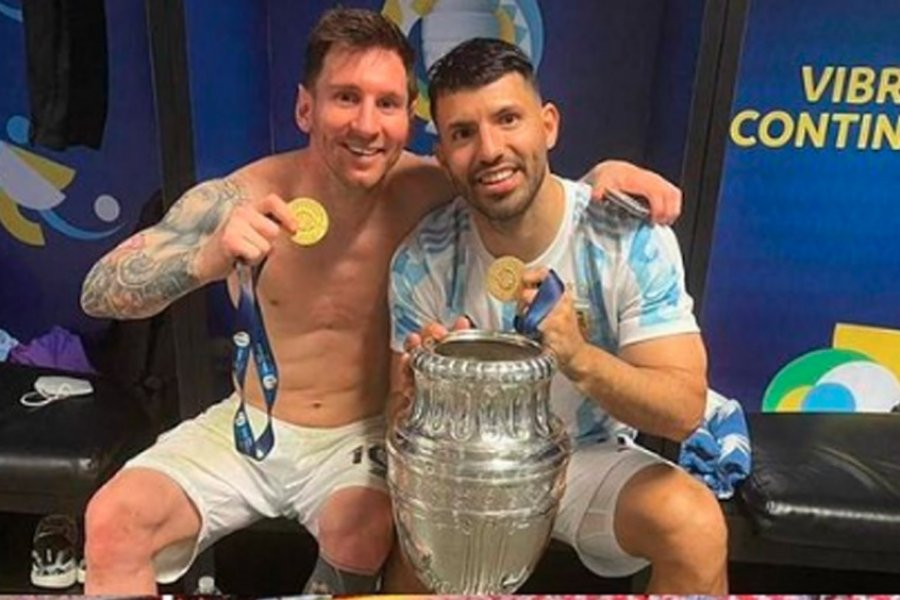"""De Agüero a Messi: """"Todo lo mejor en lo que venga, amigo"""""""
