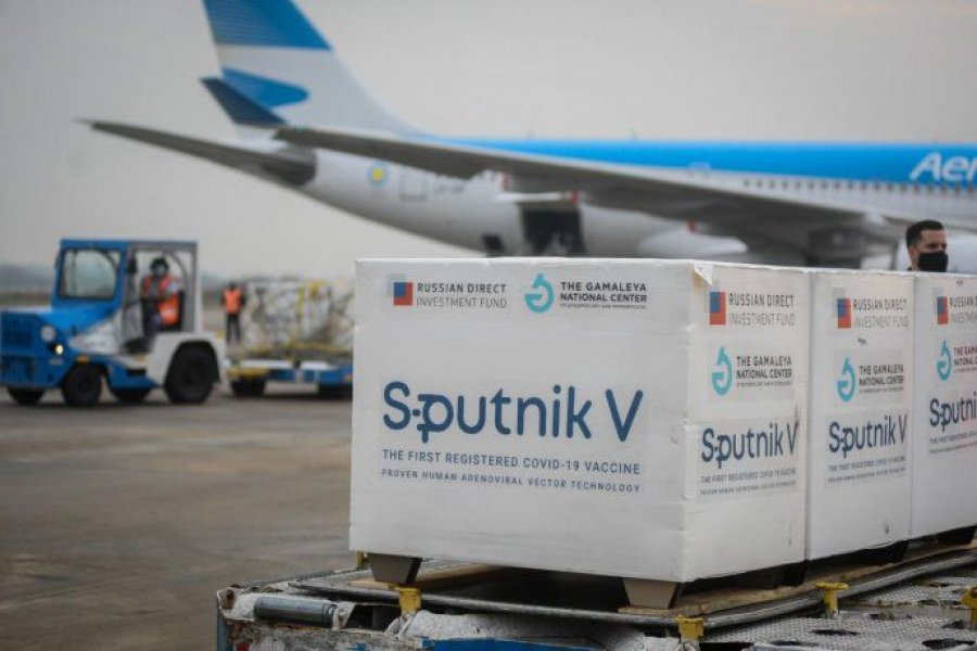 Llegaron 400 mil dosis del componente 2 de Sputnik V