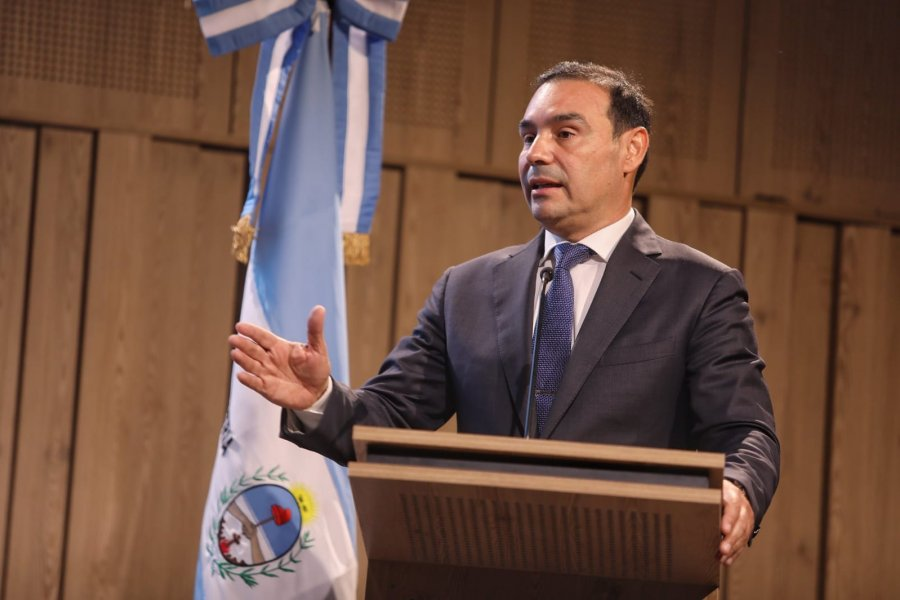 Valdés participó en una conferencia del economista Fausto Spotorno