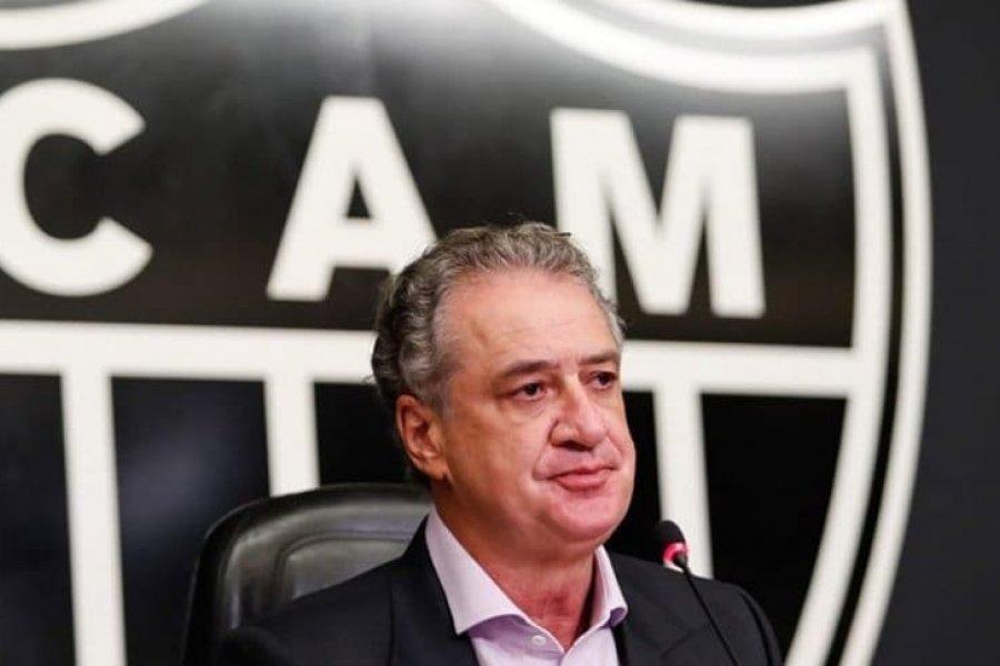 El presidente de Atlético Mineiro fue sancionado tras los incidentes con Boca