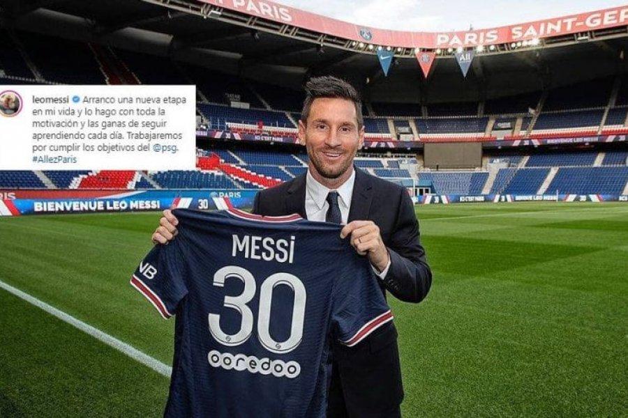Messi y su primer posteo en Instagram con la camiseta de PSG