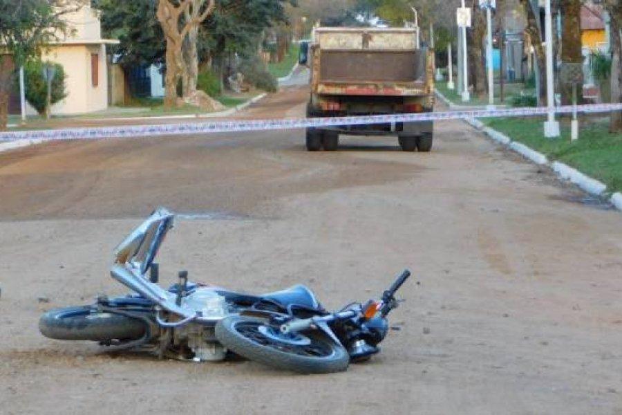 La Cruz: Murió un motociclista tras chocar contra un camión
