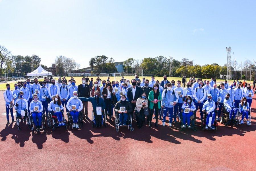 Despidieron a la delegación argentina que participará en los Juegos Paralímpicos