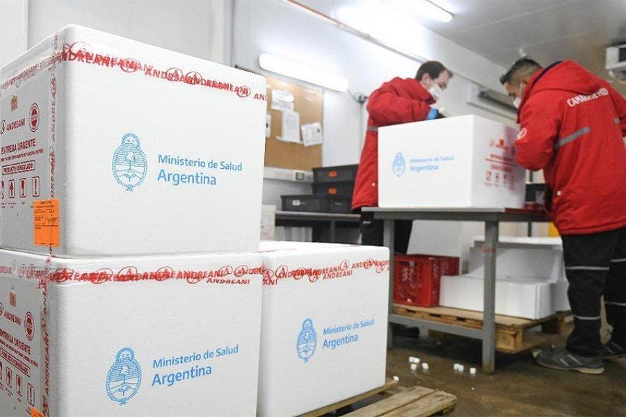 Las vacunas Sputnik V producidas en el país ya se distribuyeron a todas las provincias