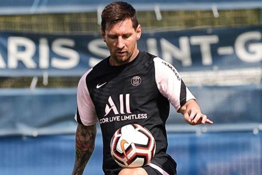 Messi y un doblete en la práctica con el PSG