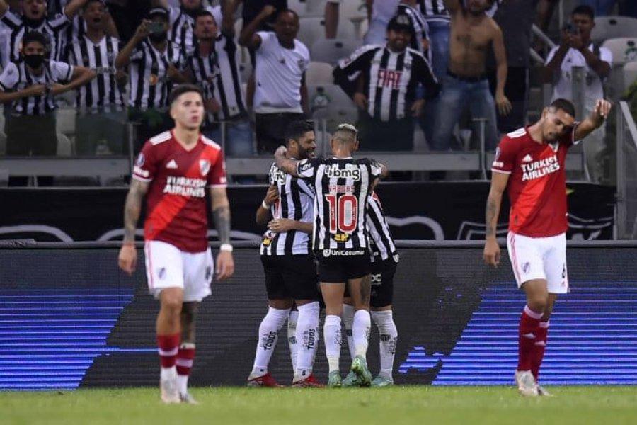 River perdió contra Atlético Mineiro y quedó eliminado