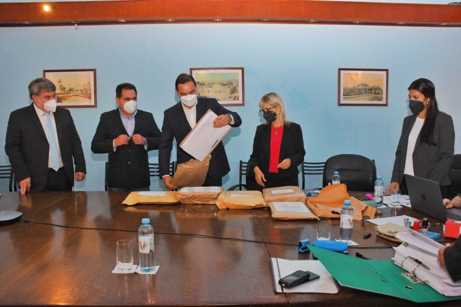Valdés participó de la licitación para la construcción de una escuela Técnica para la localidad de Santa Rosa