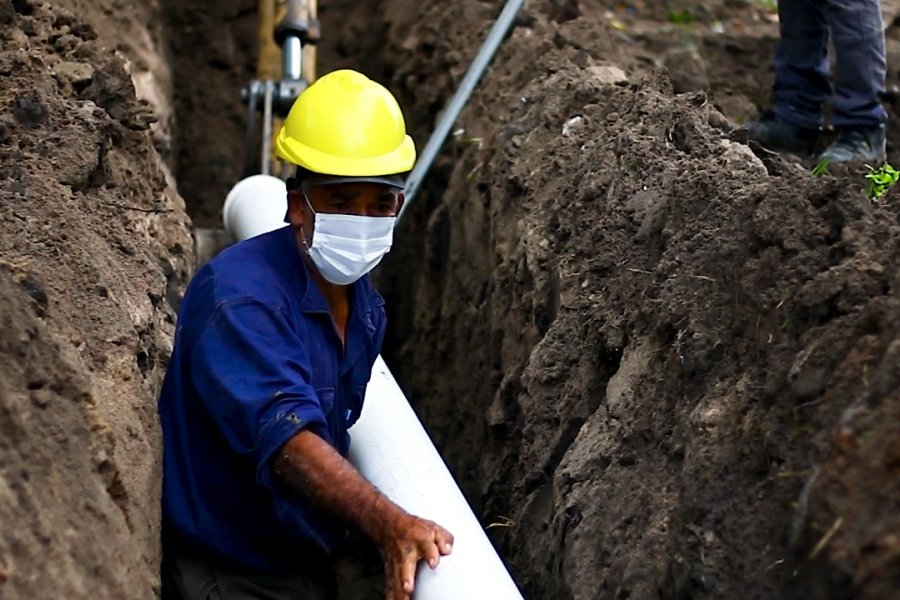 Empedrado: 2500 personas ya tienen acceso al servicio de desagüe cloacal