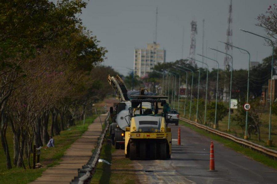 Vialidad nacional inicia obras de bacheo en el acceso a Mercedes