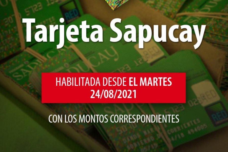 Desde este martes 24  se habilitan las tarjetas Sapucay