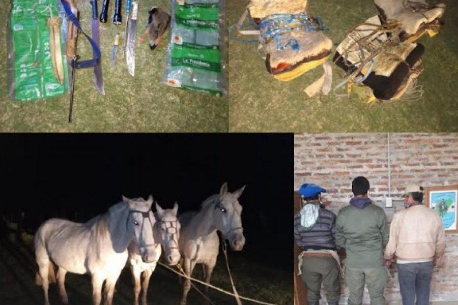Policías detuvieron a cuatreros en un campo