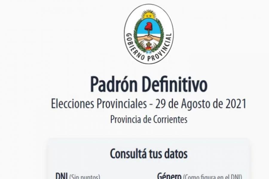Corrientes: Consultá el padrón para las elecciones del 29 de agosto