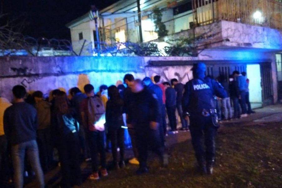 Desbarataron fiesta clandestina con cerca de 80 menores