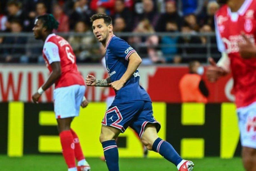 Messi debutó en PSG con una victoria ante Reims en la Ligue 1