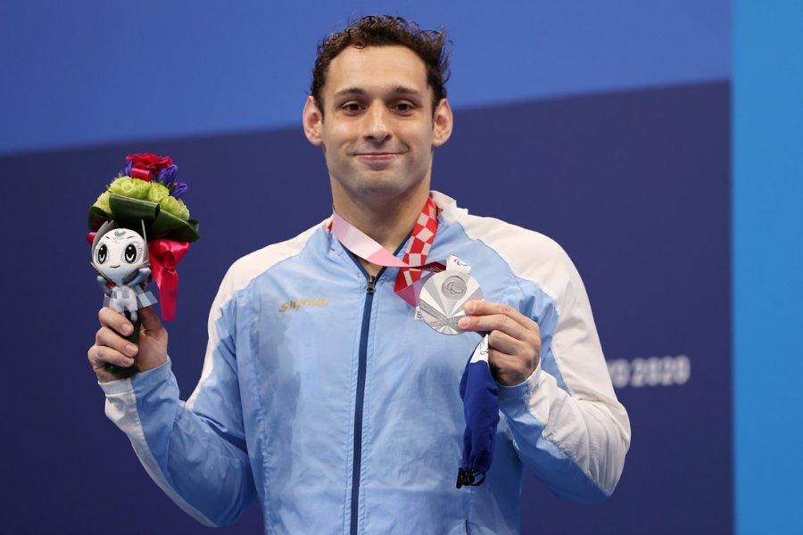 Pipo Carlomagno ganó una medalla de plata en natación en los Juegos Paralímpicos