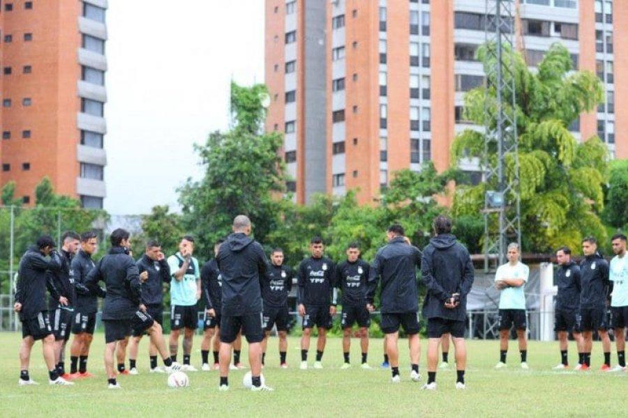 Primer entrenamiento de la Selección Argentina con el plantel completo