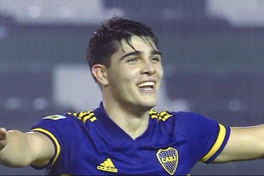 Vicente Taborda, el juvenil que firmó su primer contrato en Boca