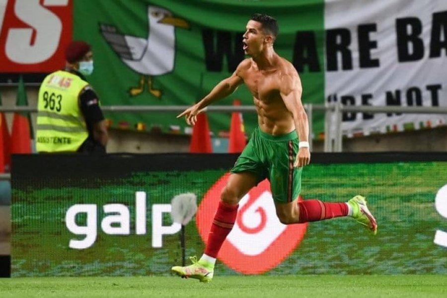 ¡Cristiano Ronaldo alcanzó el récord con Portugal!: doblete y triunfo agónico en el final