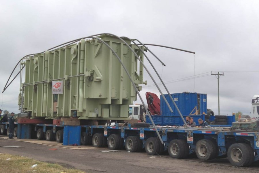 La Secretaría de Energía hizo posible la llegada del tercer transformador de 500 kV a Paso de la Patria