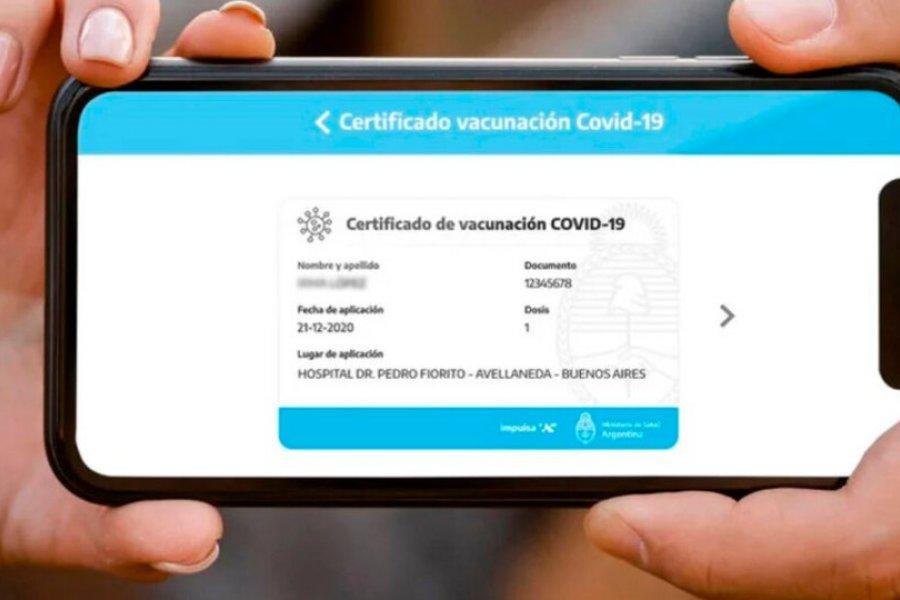 La App Mi Argentina servirá en el mundo como certificado de vacunación