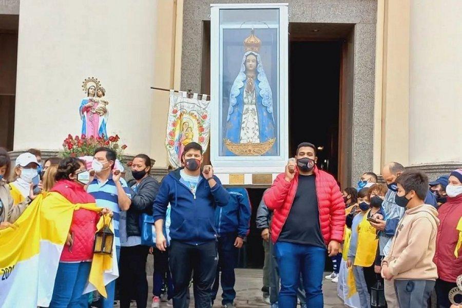 Llegó la 87° peregrinación de la virgen del Rosario a Itatí