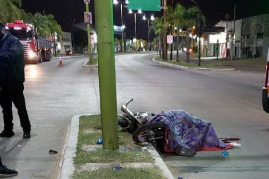 Corrientes: Murió un motomandado en siniestro vial