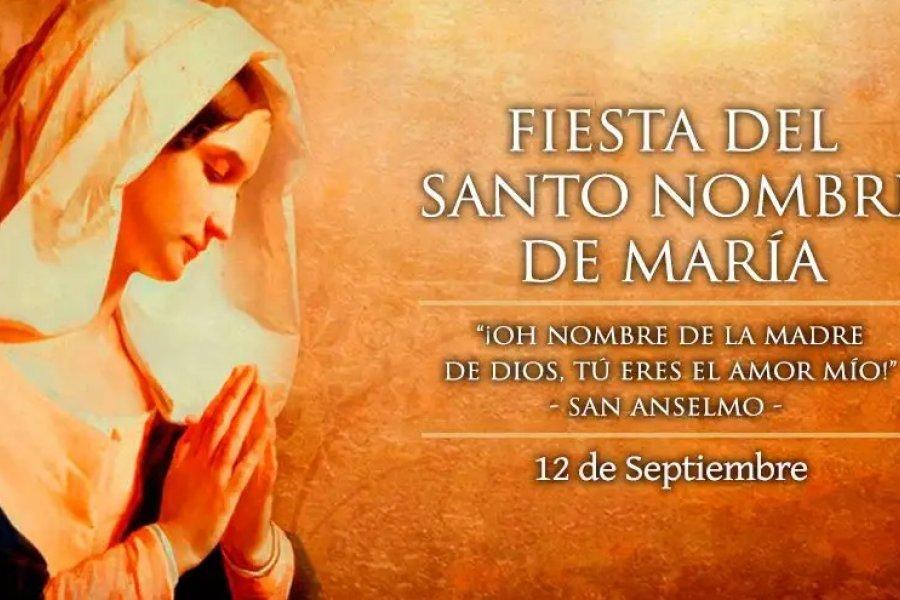 La Iglesia católica celebra hoy al Santísimo Nombre de María, luz que ilumina los cielos y la tierra