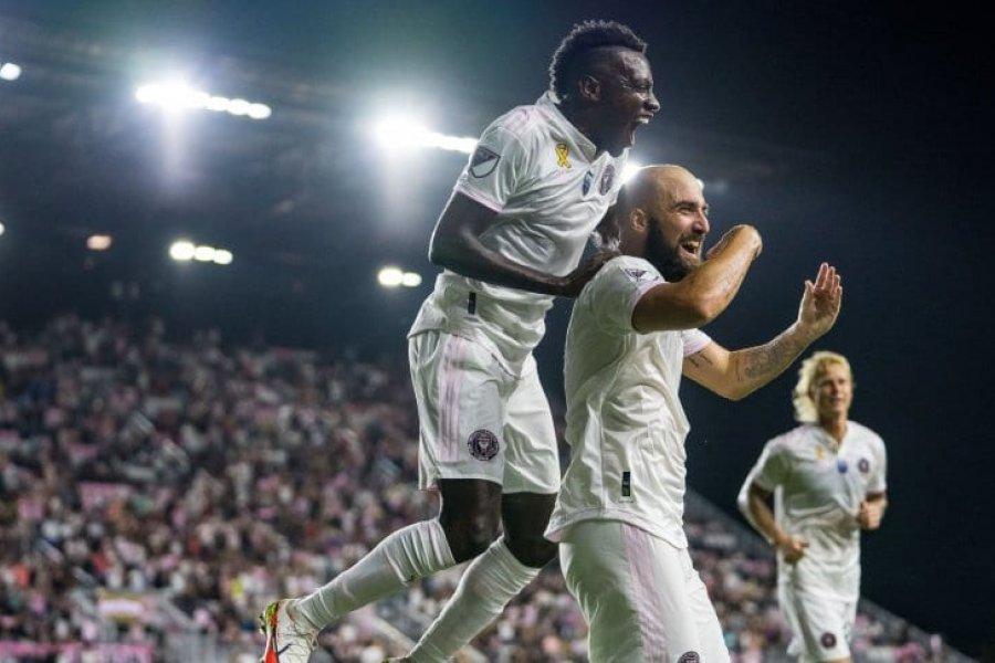 Gonzalo Higuaín le dio el triunfo a Inter Miami ante Columbus Crew
