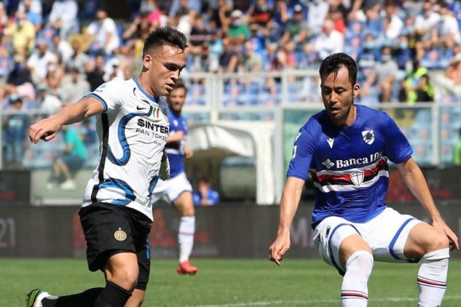 El gol de Lautaro Martínez no le alcanzó al Inter: empató contra Sampdoria