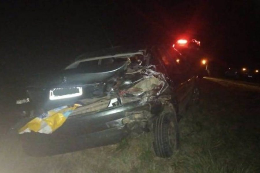 Un automóvil embistió a una camioneta sobre Ruta Nacional 119