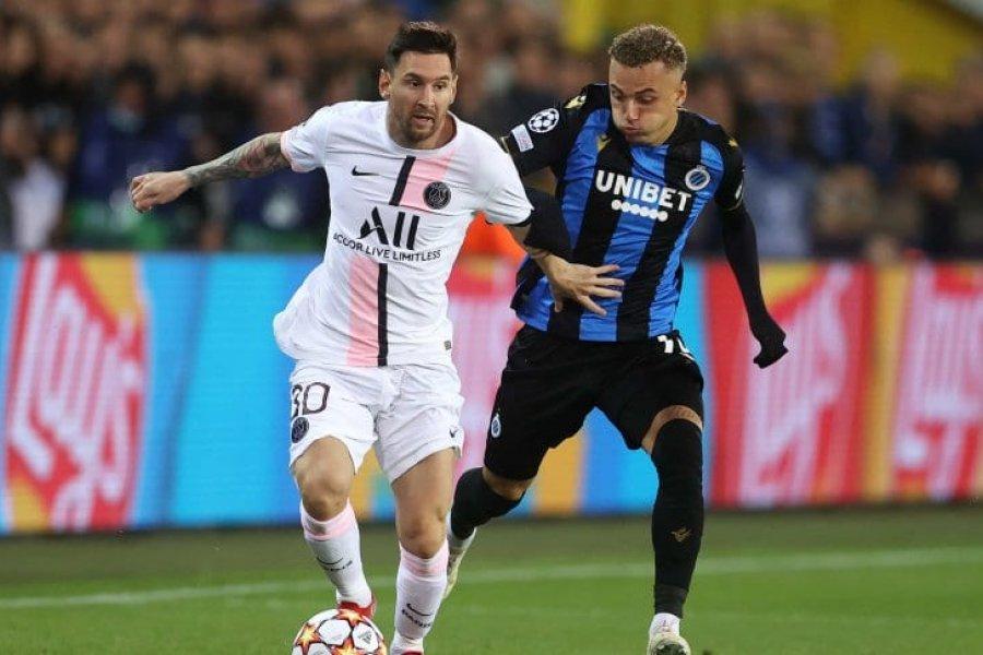 Brujas igualó con PSG, que tuvo el debut de Messi