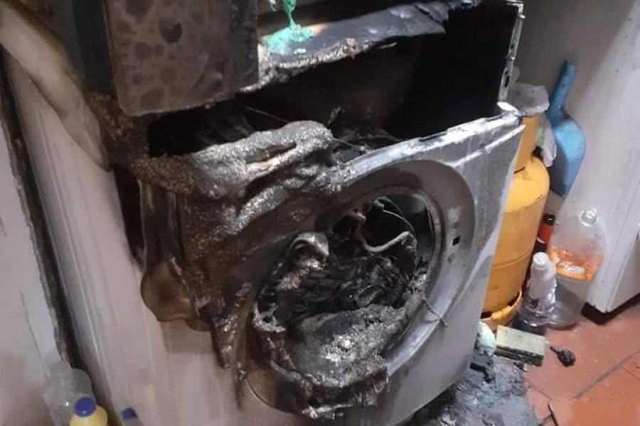 Daños materiales en una vivienda por la explosión de un lavarropas