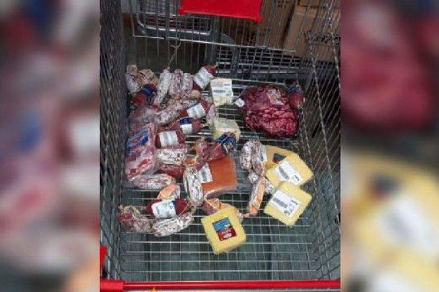 Lo detuvieron por robar $14 mil en salamines y queso de un súper