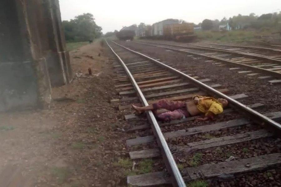 Encontraron a un hombre tirado sobre las vías del tren con gravísimas heridas