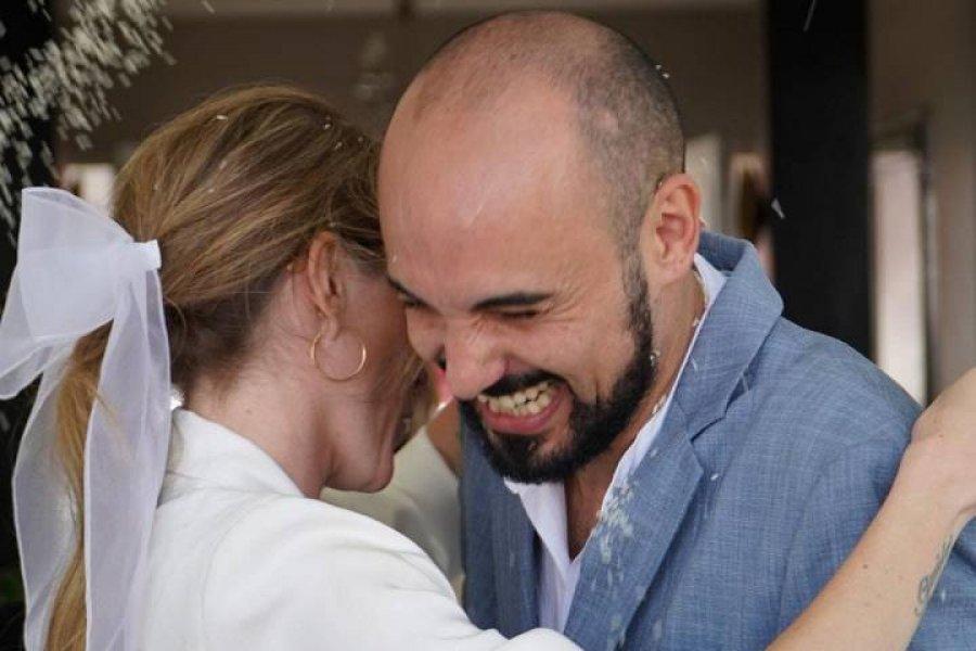 Abel Pintos y Mora Calabrese se casaron en Chaco
