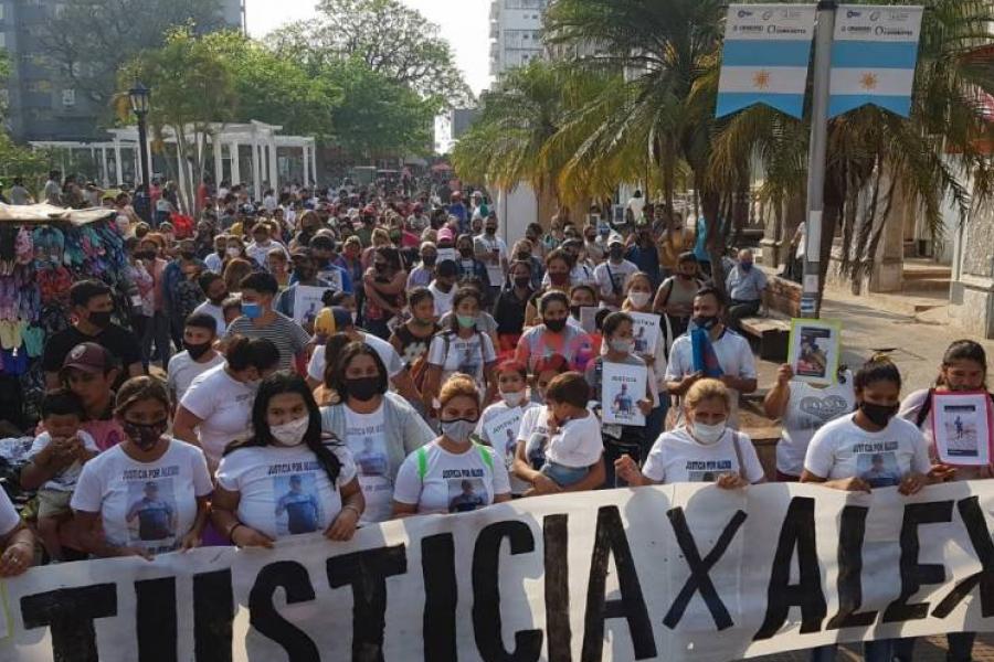 Multitudinaria marcha para pedir justicia por el asesinato de Alexis Ramírez