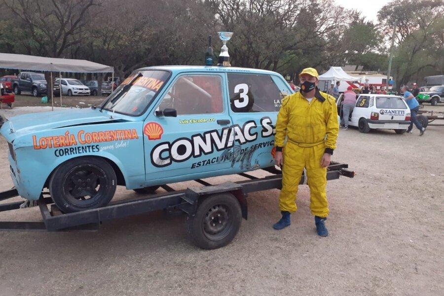 Luis Escobar sumó su tercer podio consecutivo en el campeonato Zonal Santafesino