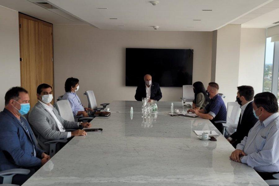 El presidente del Banco de Corrientes se reunió con la Cámara Provincial de Empresarios de Eventos
