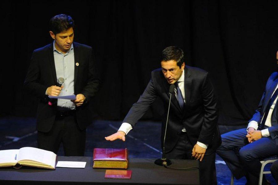 """Kicillof le tomó juramento a los nuevos ministros y los invitó a formar parte """"de un gabinete militante"""""""