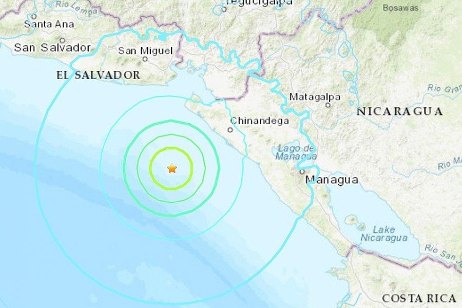Un terremoto de 6,5 grados sacudió la costa de Nicaragua