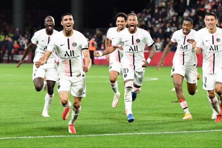 Sin Messi, PSG rescató una victoria con un gol agónico
