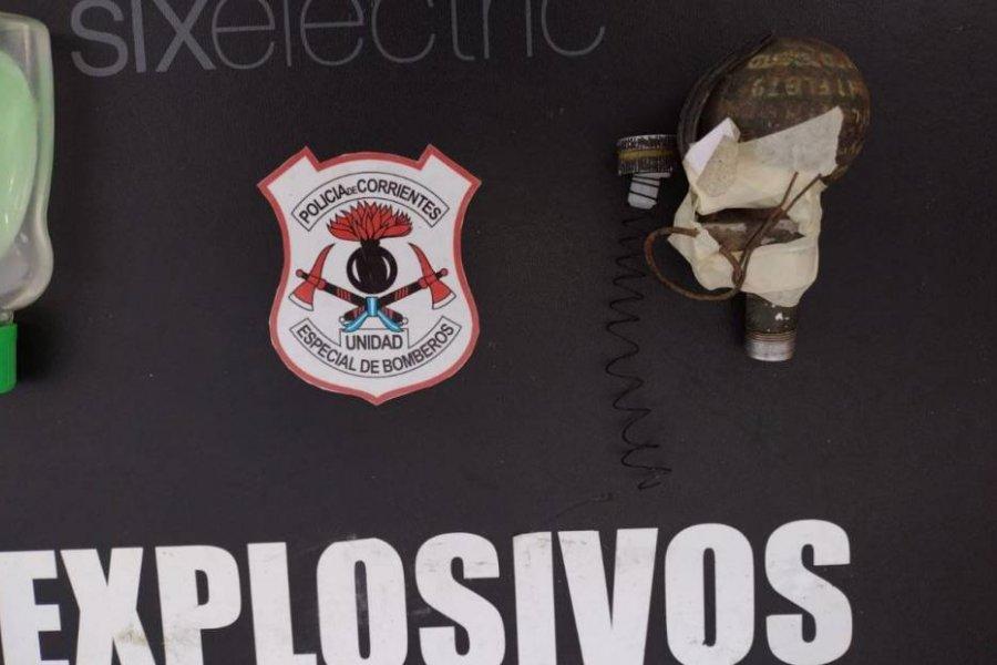 Encontraron una granada activada en una plaza de Corrientes