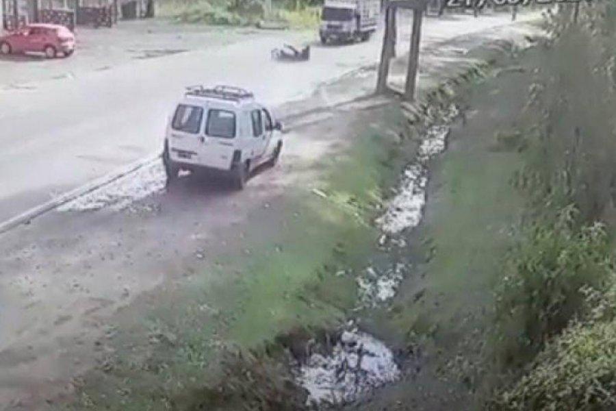 Llevaba droga el joven arrollado por un camión en Ruta 43